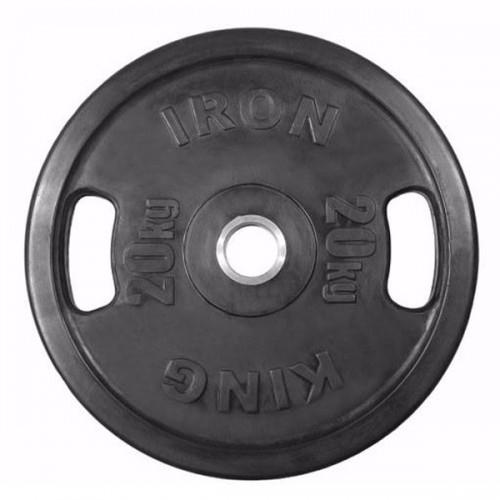 Диски Евро-Классик 20 кг с хватами (обрезиненные, диаметр 51 мм)